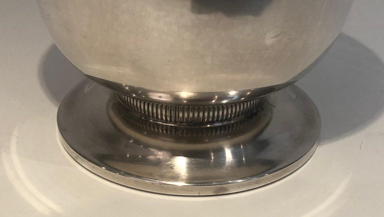 Silver Plated Champagne Bucket, French, Circa 1930 For Sale 3
