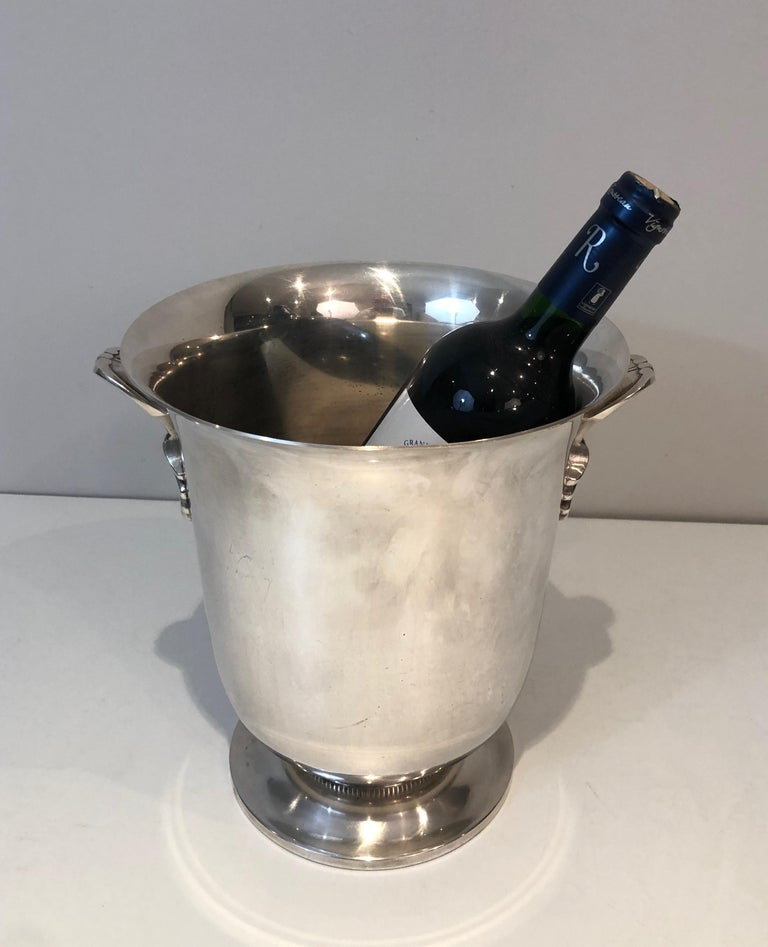 Silver Plated Champagne Bucket, French, Circa 1930 For Sale 4