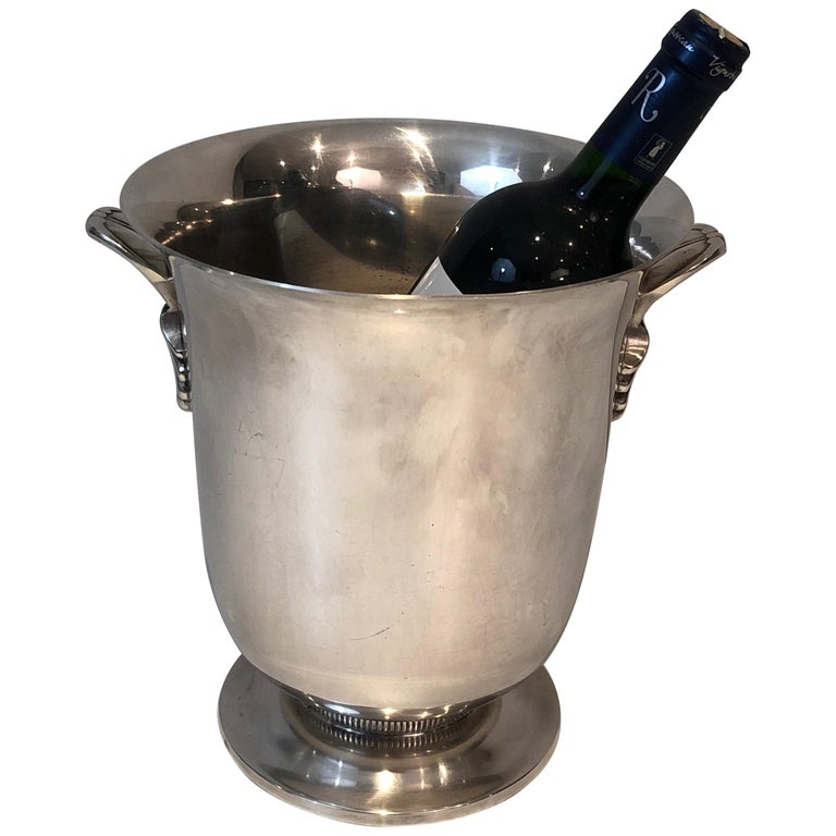 Silver Plated Champagne Bucket, French, Circa 1930 For Sale