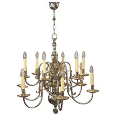 Silver Plated Chandelier, 1930s