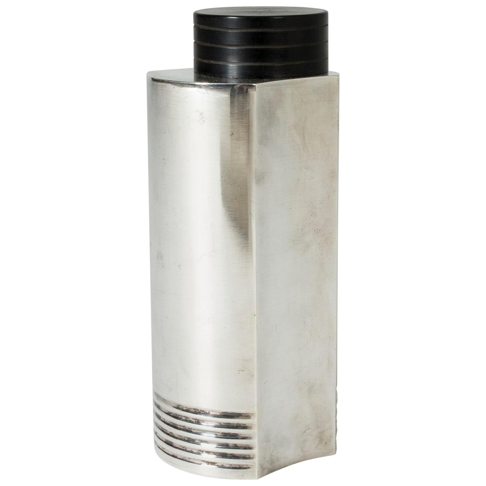 Silver Plated Cocktail Shaker by Folke Arström