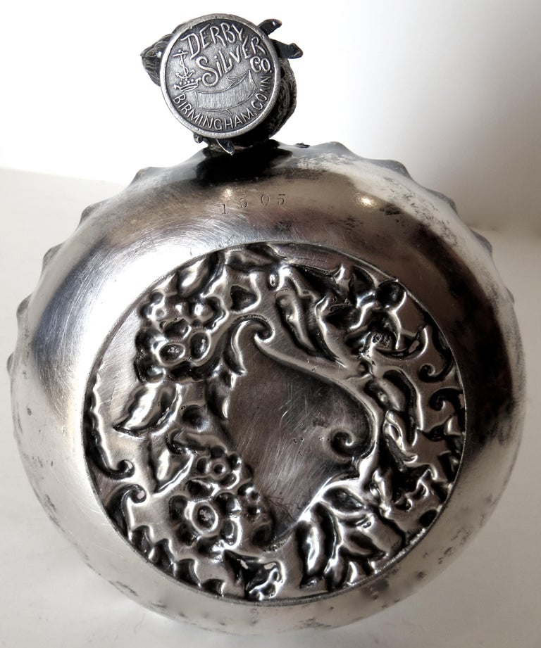 Silver Plated Combination Cigar Cutter/Bud Vase by Derby, Connecticut circa 1885 For Sale 1