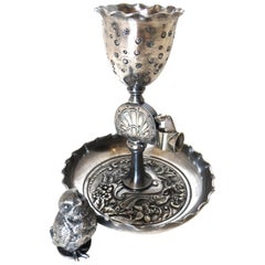 Silver Plated Combination Cigar Cutter/Bud Vase by Derby, Connecticut circa 1885