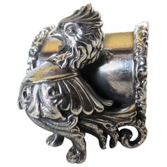 Silver Plated Figural Chicken Napkin Ring, American, circa 20th Century