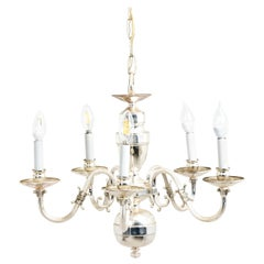 Silver Plated Five Arm Chandelier