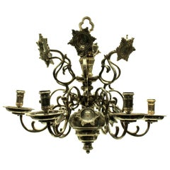 Silver Plated Flemish Chandelier