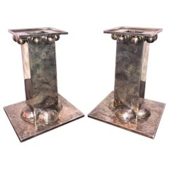 Silver plated French Candleholders done by Jean Despres