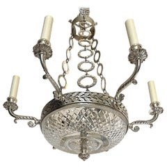 Silver Plated French Empire Chandelier