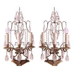 Silver-plated Girandoles Lamps