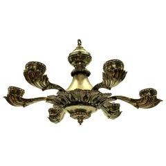 Silver Plated Greek Revival Chandelier