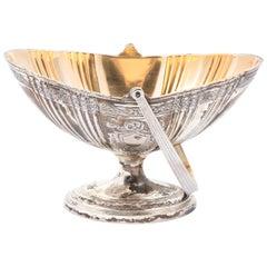 Silver Plated Hand Basket on Pedestal