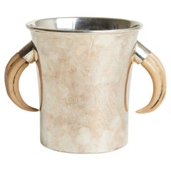 Silver Plated Horn Champagne Cooler