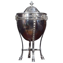 Silver Plated Lidded Wine Cooler