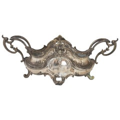 Silver Plated Metal Planter in Louis XV Style