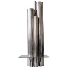 Silver Plated Orgue Vase by Jacques Sitoleux for Christofle, circa 1969