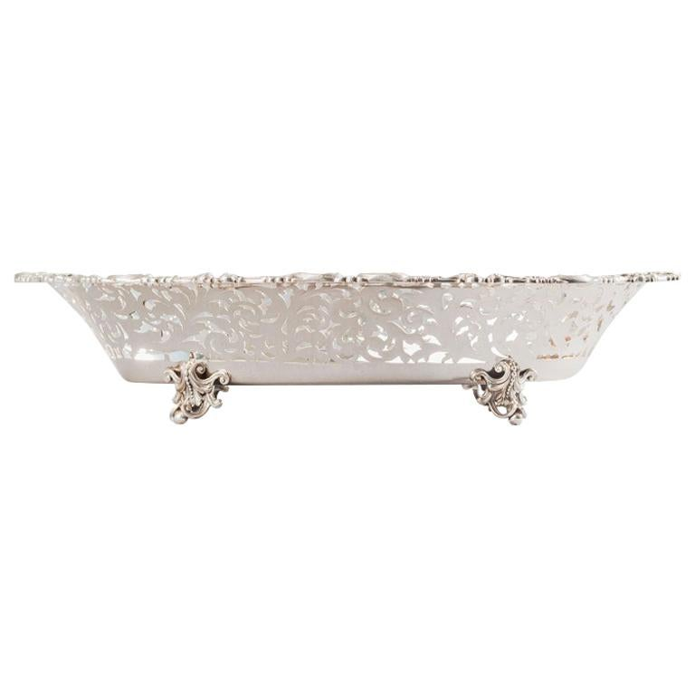 Silver Plated Pierced Centrepiece, Made in Italy