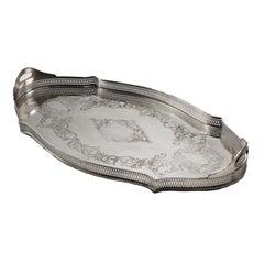 Silver Plated Pierced Tray, circa 1940