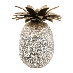 Silver Plated Pineapple Decorative Box