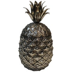 Silver Plated Pineapple Ice Bucket, Italy, Circa 1970