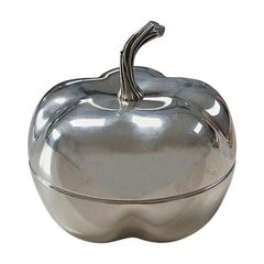 Silver Plated Pumpkin Shaped Decorative Box, 1970s, France