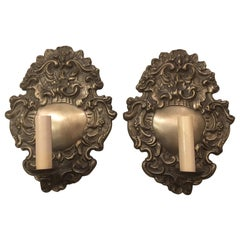 Silver Plated Single Light Sconces