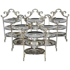 Silver Plated Tiered High Tea Serving Trays or Cake Stand, 10+ Sets Available