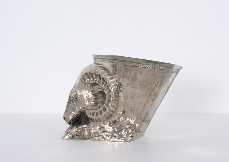 Italian Silver Plated Vase by Gabriella Crespi For Sale