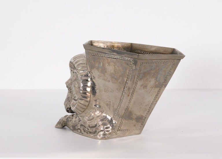 Silver Plated Vase by Gabriella Crespi For Sale 2