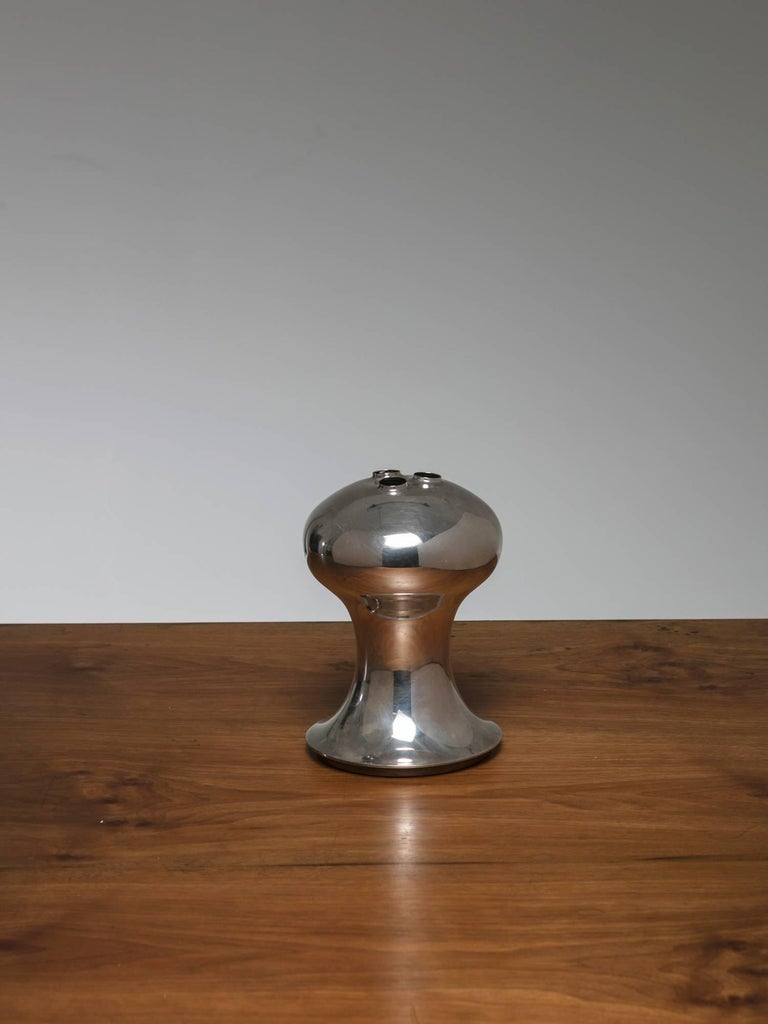Italian Silver Plated Vase by Lino Sabattini For Sale