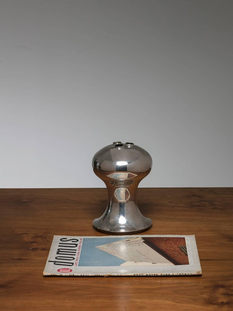 Silver Plated Vase by Lino Sabattini In Good Condition For Sale In Milan, IT