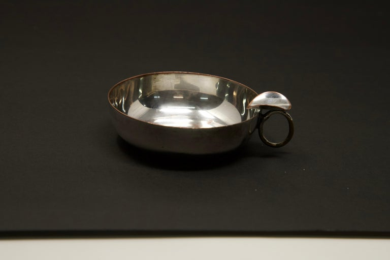 Silver Plated Victoria Wine Taster with One Penny For Sale 3