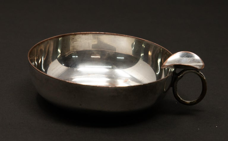 Silver Plated Victoria Wine Taster with One Penny For Sale 4