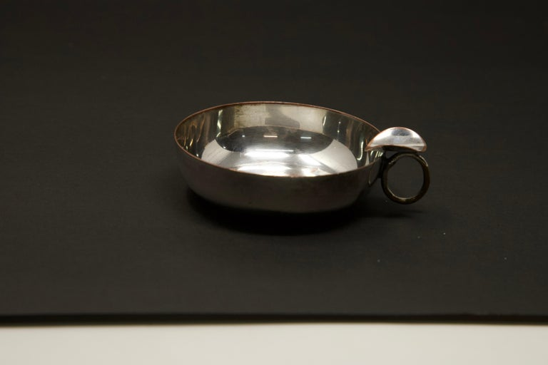 Silver Plated Victoria Wine Taster with One Penny For Sale 5