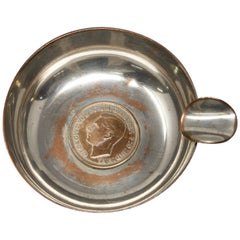 Silver Plated Victoria Wine Taster with One Penny