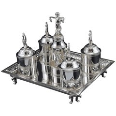Silver-Plated Writing Set, 19th-20th Century