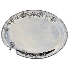 Silver Serving Platter, Art Nouveau, M.H. Wilkens & Söhne, Bremen, Germany, 1899