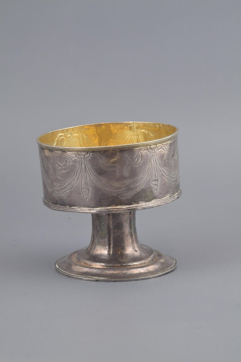 Spanish Silver Pyx Without Lid, 17th Century For Sale