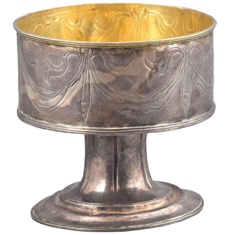 Silver Pyx Without Lid, 17th Century For Sale