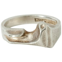Silver Ring by Björn Weckström for Lapponia, Finland, 1977