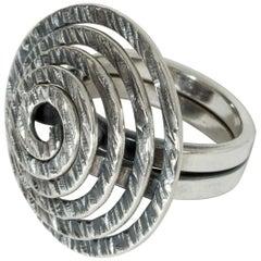 Silver Ring by Elis Kauppi for Kupittaan Kulta, Finland, 1960s