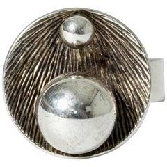 Silver Ring by Elis Kauppi for Kupittaan Kulta, Finland, 1971