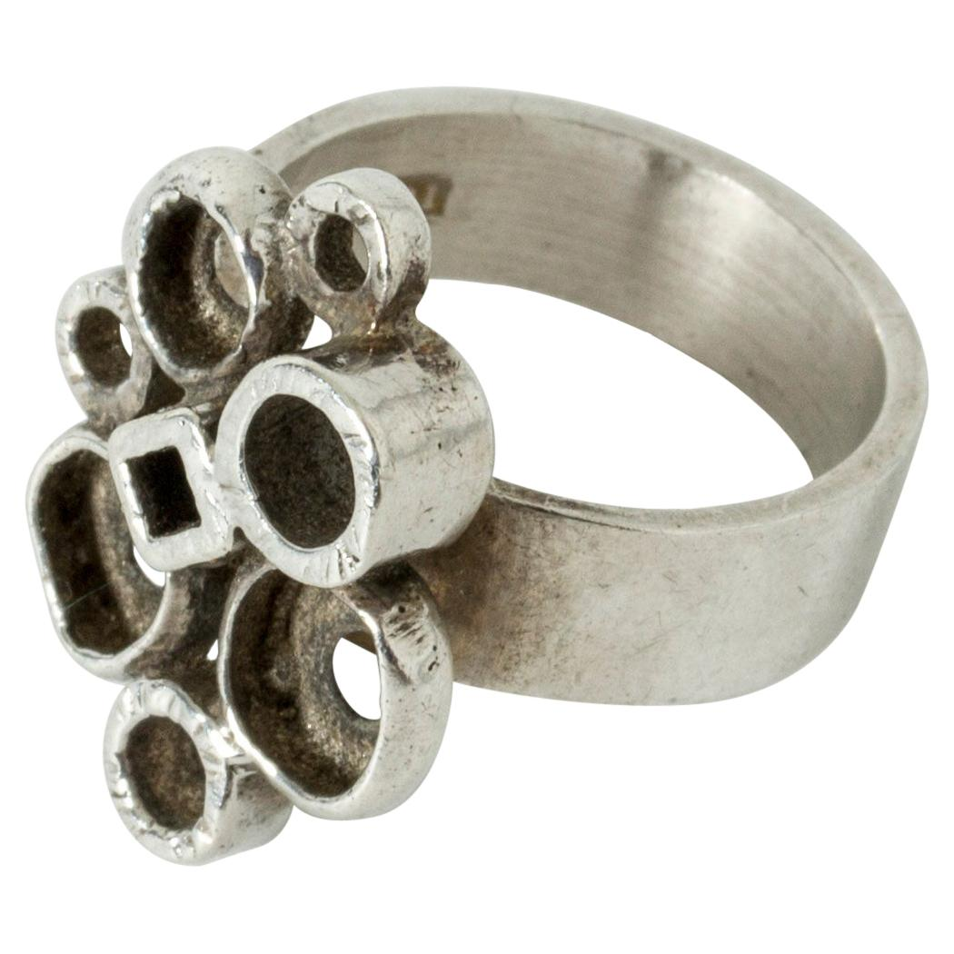 Silver Ring by Isaac Cohen, Sweden, 1967