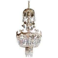 Silver Rose Brass Crystal Chandelier Antique Ceiling Lamp Lustre Art Nouveau