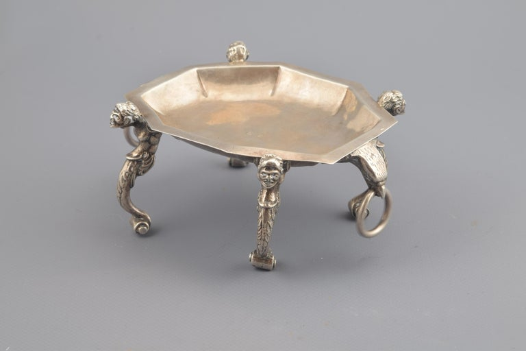 Silver Salt Cellar, Toledo, Spain, 16th Century For Sale 4