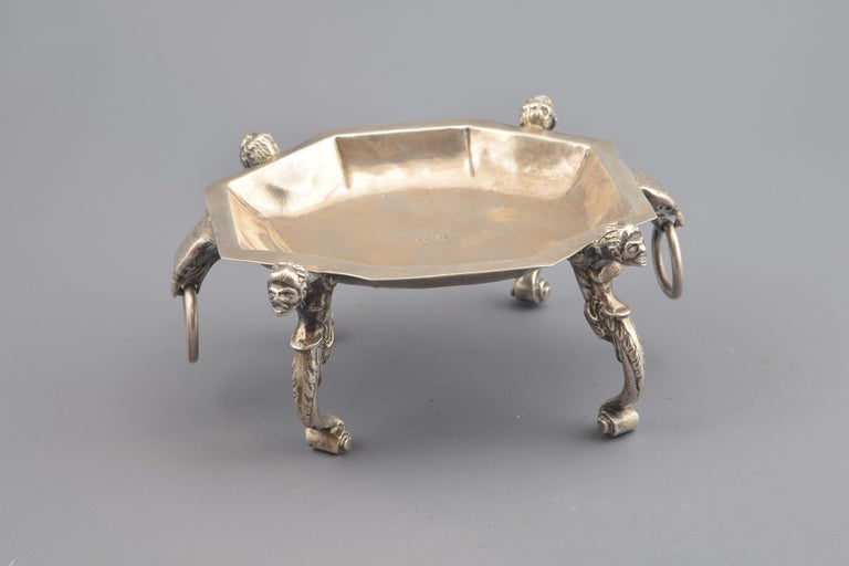 Renaissance Silver Salt Cellar, Toledo, Spain, 16th Century For Sale