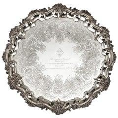 Silver salver of a Hero of Trafalgar: Captain Pryce Cumby London, circa 1836