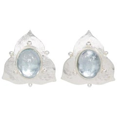 Silver Sky Blue Topaz Earrings