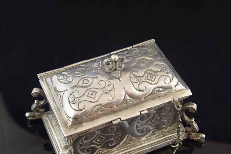 Silver Small Chest for the Holy Oil, 17th Century For Sale 2