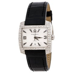 Silver Stainless Steel Diamond Hampton 65394 Men's Wristwatch 35MM