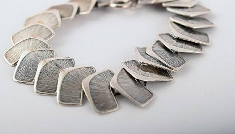 Modern Scandinavian design bracelet in silver. Stamped illegible, 830 etc. In perfect condition. 18 cm. long.